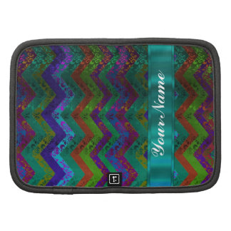 Colorful damask chevron planners