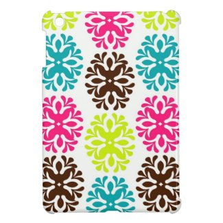 Colorful damask floral girly cute flower pattern