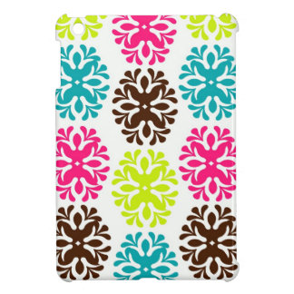 Colorful damask floral girly cute flower pattern iPad mini cases
