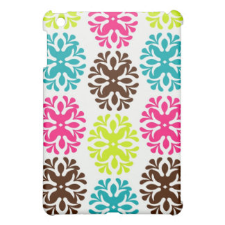 Colorful damask floral girly cute flower pattern iPad mini covers
