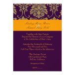 Colorful Damask/plum/orange/lavender Announcements