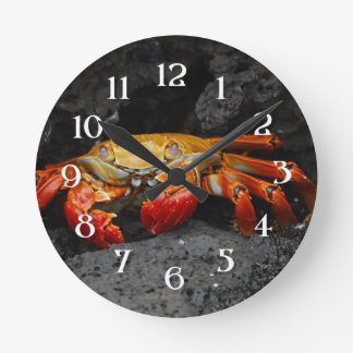 Colorful Damask Round Clock