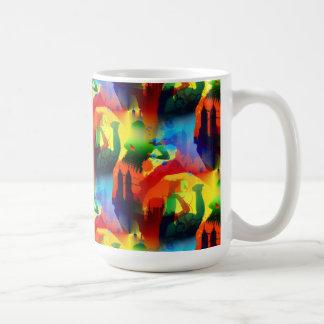 Colorful Dance Pop Art Music City Abstract Coffee Mugs
