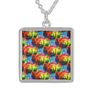 Colorful Dance Pop Art Music City Abstract Jewelry