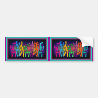 Colorful Dancers Art Bumper Sticker