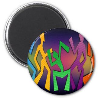 Colorful Dancers Art Magnet