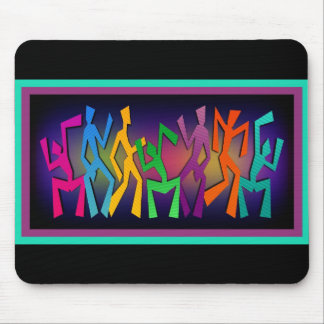 Colorful Dancers Art Mouse Pad
