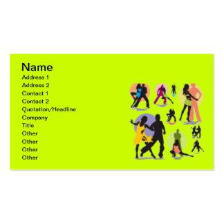 COLORFUL DANCERS DANCE DIGITAL VECTOR ASSORTMENT BUSINESS CARD