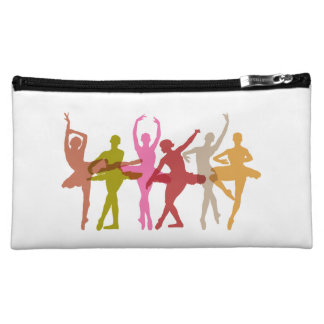 Colorful Dancing Ballerinas Cosmetic Bags