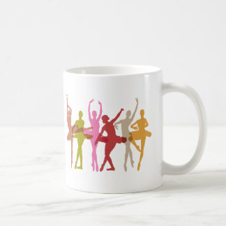 Colorful Dancing Ballerinas Coffee Mug