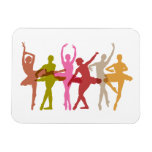 Colorful Dancing Ballerinas Flexible Magnets