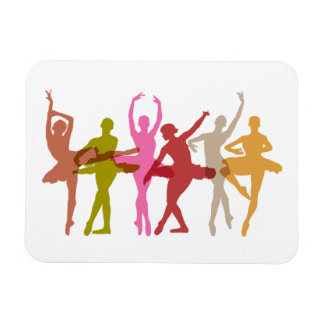 Colorful Dancing Ballerinas Magnet