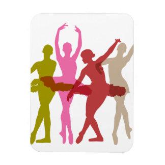 Colorful Dancing Ballerinas Magnet