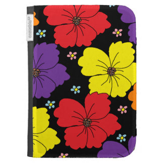 Colorful Dancing Flowers Kindle Cases