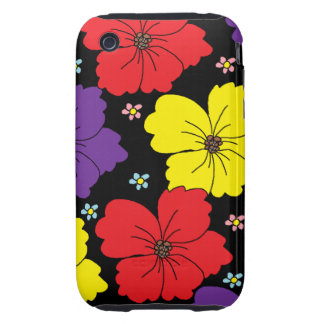 Colorful Dancing Flowers iPhone 3 Tough Case