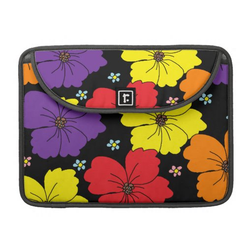 Colorful Dancing Flowers Sleeve For MacBook Pro