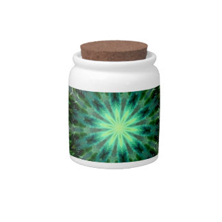 Colorful Dancing Peacock Kaleidoscope Candy Jars