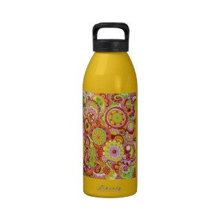 Colorful Dancing Skeletons Water Bottle