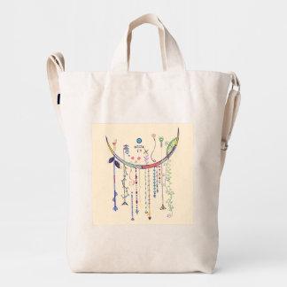 Colorful Dangling Art Tote Bag