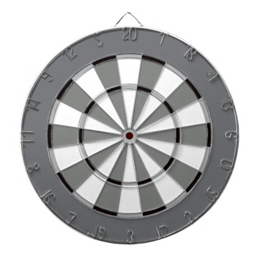 Colorful Dart Board in Black and White
