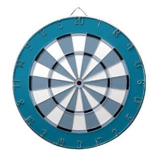Colorful Dart Board in Blue
