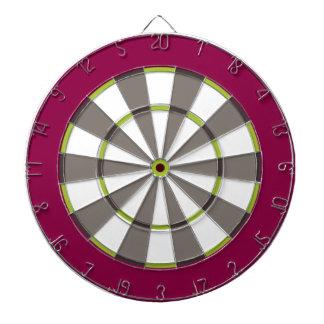 Colorful Dart Board in Maroon Green Gray