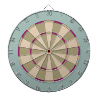 Colorful Dart Board in Muted Tones with color pop
