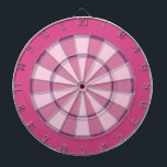 "Colorful Dart Board in Pink<br><div class=""desc"">Dart board in cool colors instead of the usual red and black (or a photo where you can&#39;t see the targets). This is great for the game room or a teens bedroom. Colors range from crazy to subdued so you are sure to find the right fit. This dart board is...</div>"