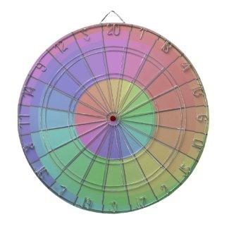 Colorful Dartboard Spectrum Rainbow Pastel