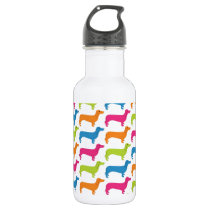 Colorful Dashshunds Water Bottle