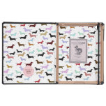 Colorful Dauchshund Lined iPad Case
