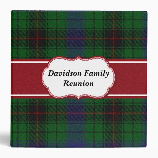 Colorful Davidson Tartan Plaid Binder