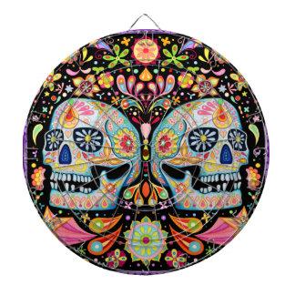 Colorful Day of the Dead Dartboard Sugar Skulls