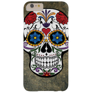 Colorful Day of the Dead Skull Día de Muertos Barely There iPhone 6 Plus Case