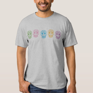 Colorful Day of the Dead Skulls Tshirt