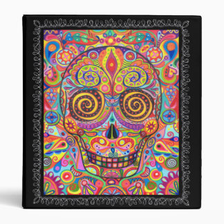 Colorful Day of the Dead Sugar Skull Binder