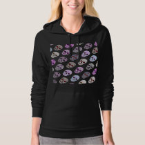 Colorful Day of the Dead Sugar Skull Pattern Hoodie
