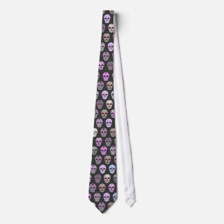 Colorful Day of the Dead Sugar Skull Pattern Tie