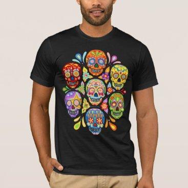 thaneeyamcardle Colorful Day of the Dead Sugar Skulls Shirt