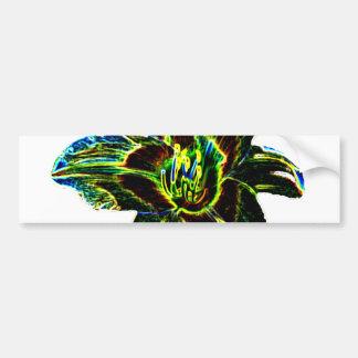 Colorful Daylily Bumper Sticker