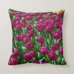 Colorful Daze-Tulips Throw Pillows