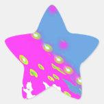 Colorful Deco Design Star Sticker