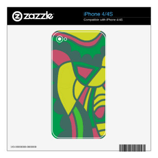 Colorful decor iPhone 4 skins