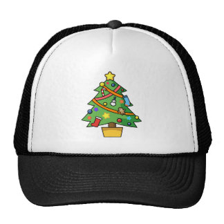 Colorful Decorated Christmas Tree Trucker Hats