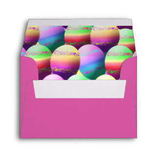 Colorful Decorated Easter Eggs Envelope