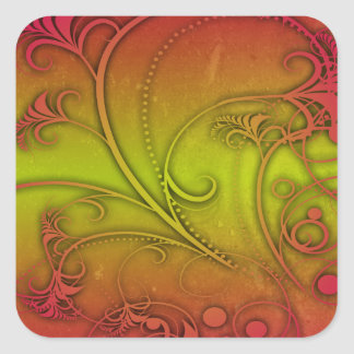 Colorful Decoration Square Sticker