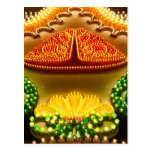 Colorful decorations post card