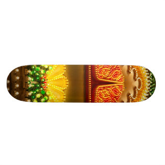 Colorful decorations skateboard