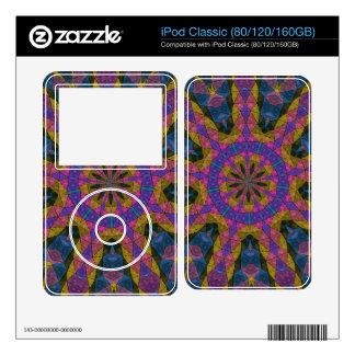 Colorful decorative mosaic iPod skins
