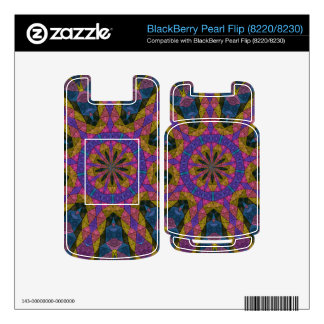 Colorful decorative mosaic BlackBerry pearl skins